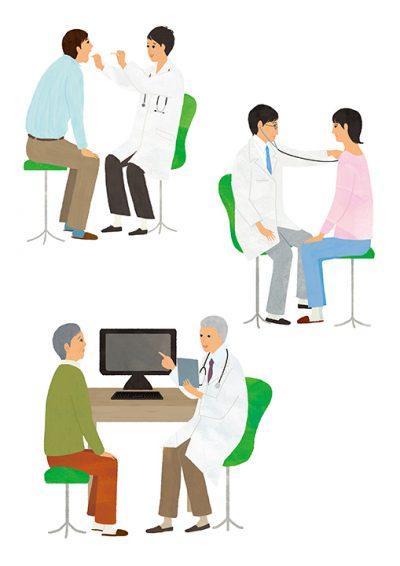 医療、医者、患者、診察、
