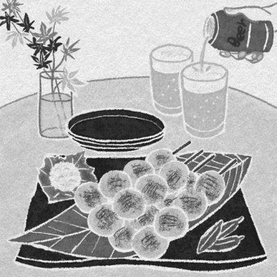 コラム挿絵,モノクロ,小説,1色,料理イラスト,食物イラスト,レシピイラスト,料理イラスト